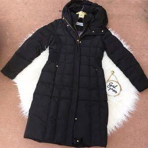 Cole Haan Black Long Down Puffer Coat M